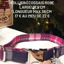 Collier écossais rose